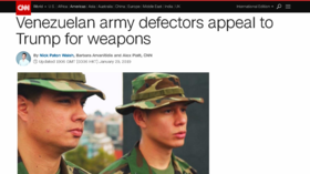CNN's 'Venezuelan army defectors' not in army, not defectors & don't live in Venezuela