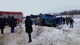 At least 7 dead, 20+ injured after packed bus with children crashes in Russia (VIDEO)