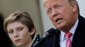 'I'd have a hard time with it': Trump wouldn't want son Barron to play 'dangerous' football