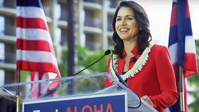Tulsi Gabbard launches her campaign in Honolulu, Hawaii. © YouTube/Tulsi Gabbard