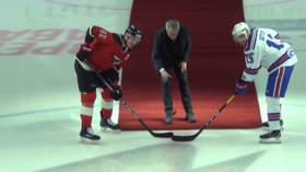 'It's whether you get up': Jose Mourinho slips & falls at ice hockey match in Russia