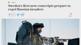 Russia about to invade Sweden? UK newspaper seems to think so