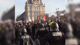 Police teargas protesters in Paris as unions rally over minimum wage (VIDEOS)