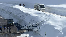 Courchevel: Plane skids upon landing, crashes into pile of snow (VIDEO)