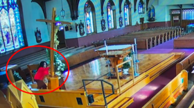 WATCH: Woman knocks 15-foot crucifix in CA church during 'vandalizing spree'