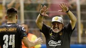 Maradona breaks out dance moves after Dorados victory to put health scare behind him (VIDEO)