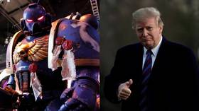 'Twitter is his sword': EPIC Warhammer 40k Trump steals the show at Italian carnival (VIDEO)