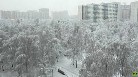 Moscow's strongest snowstorm in 140 years delights locals