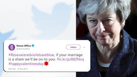 Poetic justice: Theresa May mocked for old Home Office Valentine's Day tweet