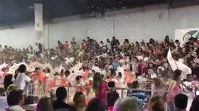Argentina carnival stand collapses injuring 34 (VIDEO)