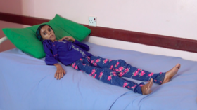 Devastating footage of starving 12yo girl weighing just 10 kg captures Yemen war horror