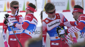 Russian ski star gets yellow card for attack on opponent after crossing finish line (VIDEO)