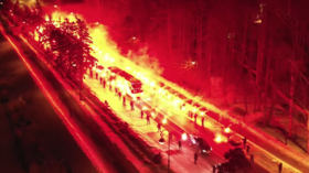 Watch fans charge up the Zenit squad with STUNNING fire show for Europa League clash with Fenerbahce