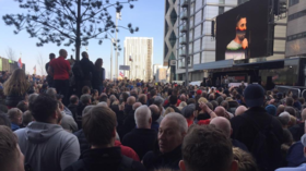 Thousands attend Tommy Robinson demonstration at BBC HQ
