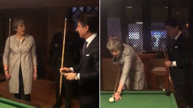 'Another balls-up': Theresa May ridiculed after awkward pool game with Italian PM (VIDEO)