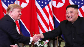Trump shakes hands with Kim Jong-un ahead of denuclearization summit in Vietnam
