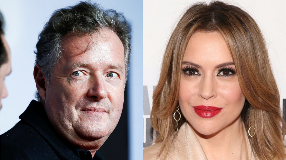 Piers Morgan 'identifies as hippopotamus' in on-air rant to Alyssa Milano