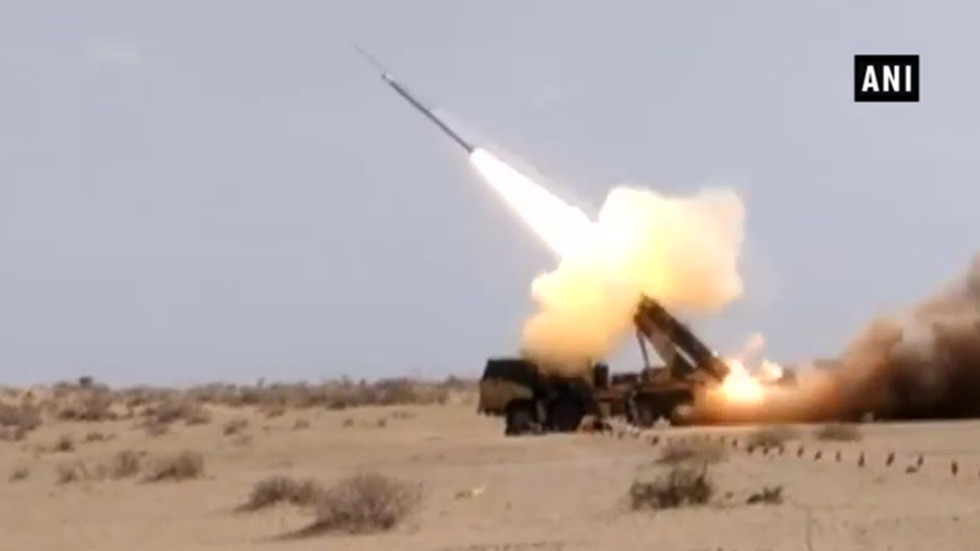 WATCH: India tests guided rocket artillery system as Pakistan rolls out 'smart weapon'