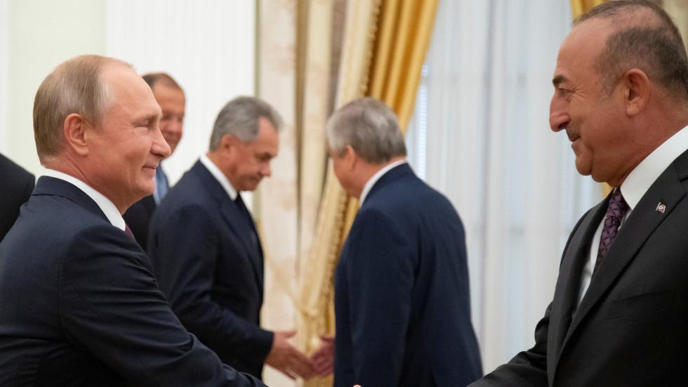 'Enough to joke with Putin': Turkey's FM reveals his Russian language skills
