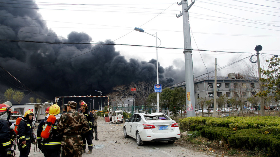 WATCH: Explosion at Chinese chemical factory shatters windows miles away