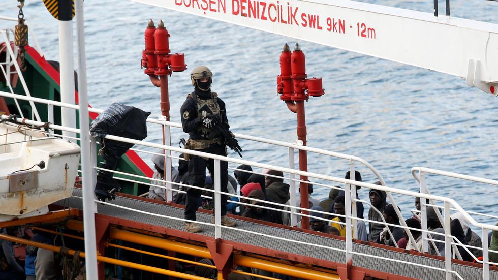 Maltese troops storm merchant ship hijacked by migrants off Libyan coast