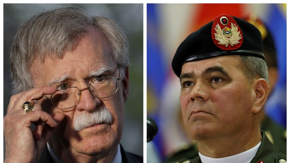 Do the right thing? Venezuelan defense minister responds to Bolton's calls to defect