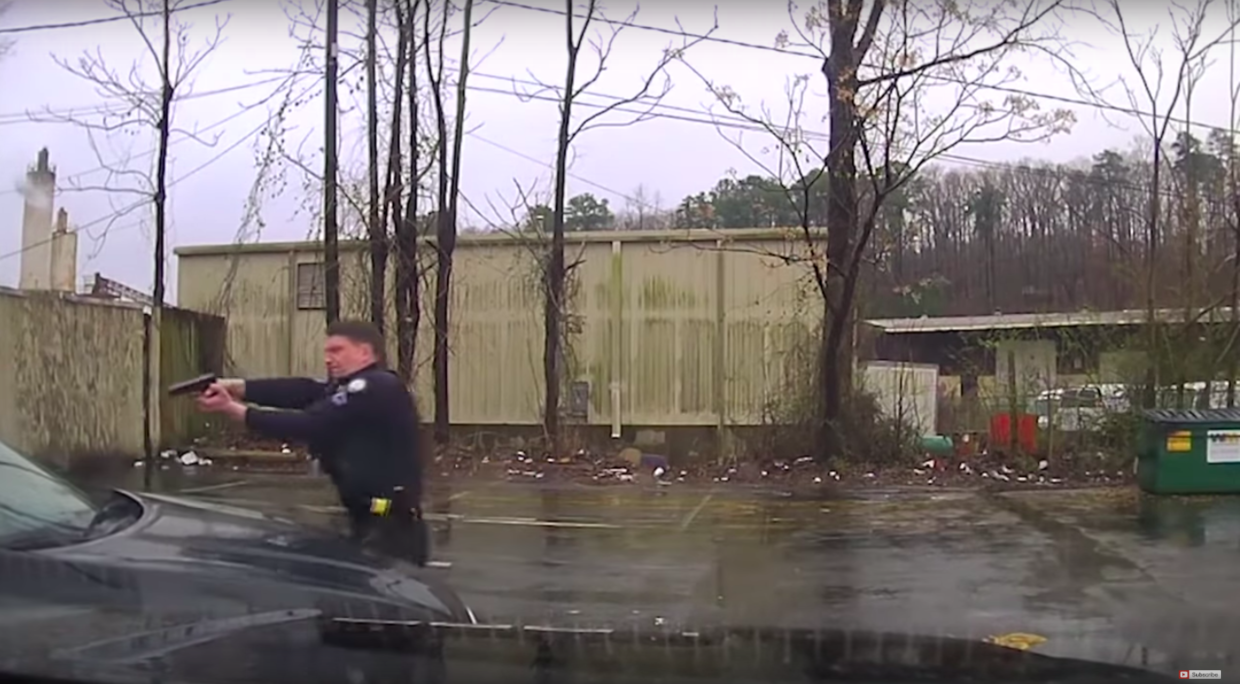 Graphic dash cam images show officer in deadly confrontation