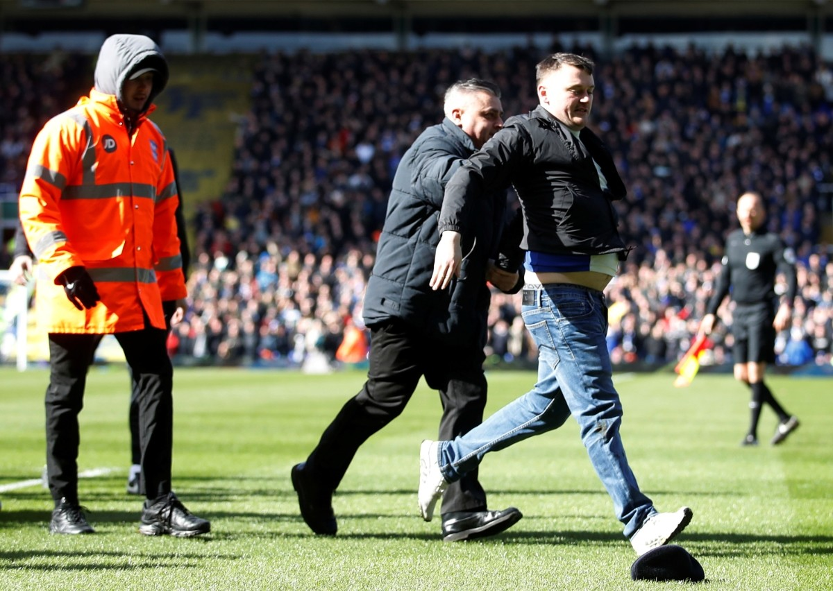 Jack Grealish punched by pitch invader in shocking derby incident
