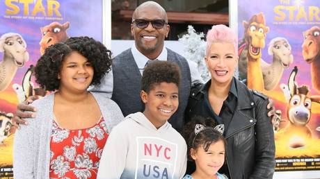 Terry Crews and his family.