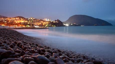 A seashore of the Black Sea resort of Gurzuf, Crimea, Russia. © Sputnik / Alexey Malgavko