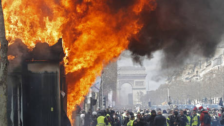French police ban Yellow Vest protests from Champs-Elysées area of Paris