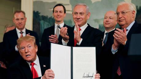Saudi Arabian parliament rejects Trump's Golan Heights resolution