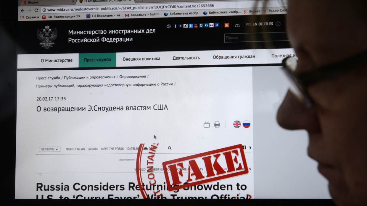 Russian Senate Roves Rules On Fighting Fake News