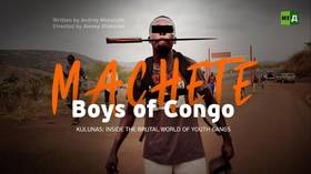 Machete boys of Congo