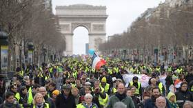 Tear gas v flowers: Yellow Vests march through Paris for 16th week in a row