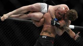 Undefeated UFC debutant Ben Askren survives massive slam in controversial UFC 235 win