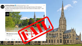 PM May's Twitter account pays tribute to wrong English city on anniversary of Salisbury poisoning
