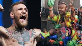Mac in Malta: 'Conor McGregor' appears on huge float during carnival celebrations (VIDEO)