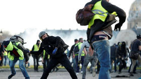 S*** got real! Cops pelted with FECAL BOMBS during Yellow Vest protests in Marseille (PHOTO)