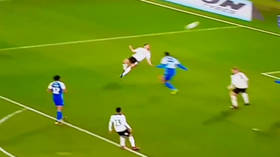 WATCH: English footballer sends internet into meltdown with incredible spinning volley