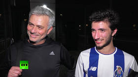 'He plays better than me!' Jose Mourinho tests skills during match with son (VIDEO)