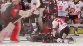 'He should be banned for life!' Hockey player suspended by own team for brutal MMA move (VIDEO)