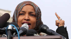 FILE PHOTO: Rep. Ilhan Omar speaks at a press conference in Washington DC © Reuters / Jonathan Ernst