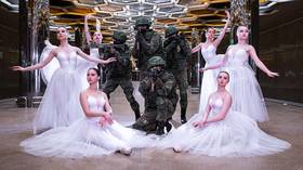 Troops and tutus: Russian soldiers and ballerinas pose for 'surreal' Women's Day shoot