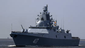 Russia's newest warship sails near UK coast with 'HALLUCINATING' device on board