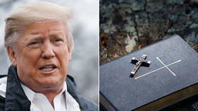 Donald Trump gets lampooned on Twitter for autographing Bibles