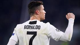 Moved to tears: Girlfriend Georgina Rodriguez weeps as Ronaldo hits Champions League hat-trick