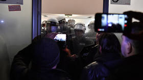 Protesters storm public broadcaster HQ in Serbia, face off with riot police (VIDEOS)
