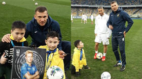'A dream come true!' Boy born with no legs plays with football hero Shevchenko & team (VIDEO)