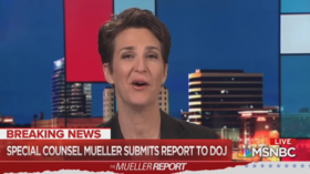 Crying for indictments? Maddow 'holds backs tears' as she discusses end of Mueller probe (VIDEO)